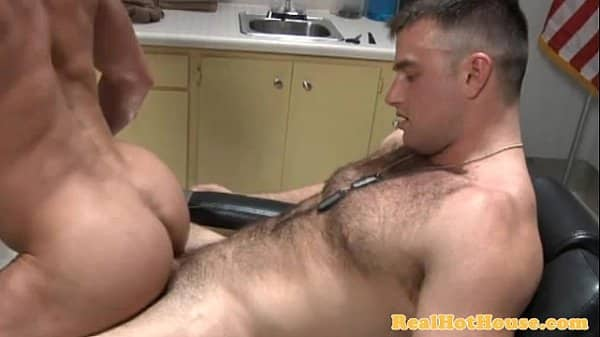 Gay muscle jock getting ass drilled